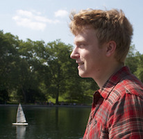 Kyle in Central Park at the Conservatory Water